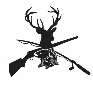 Deer And Fish Hunting Svg