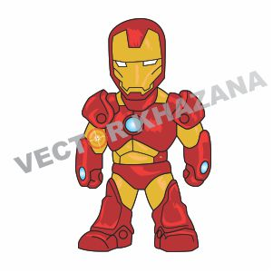Chibi Iron Man Vector