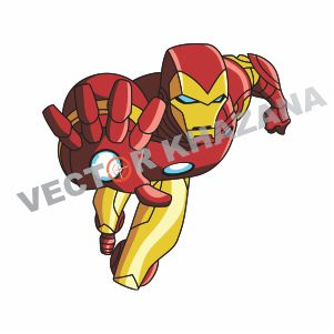 iron Man Flying Vector