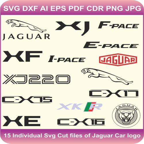 Jaguar Pack Logos Svg Cut Files