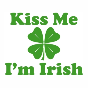kiss me i m irish logo Vector