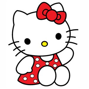 Hello Kitty Red Dress svg