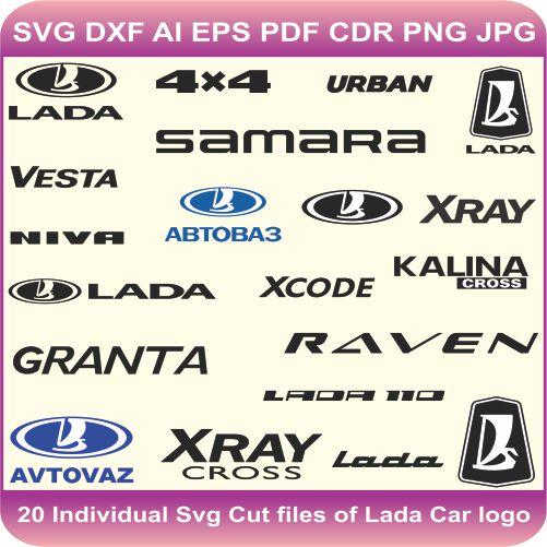 Lada Pack Logos Svg Cut Files