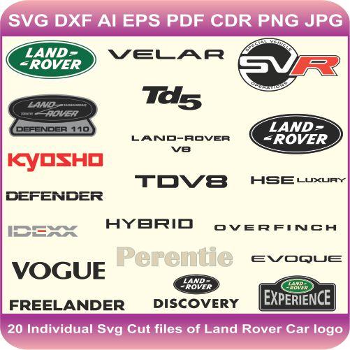Land Rover Car Pack Logos Svg Cut Files