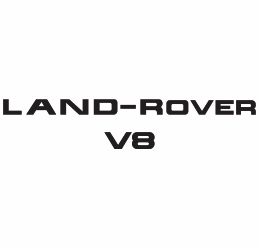 Land Rover V8 Logo Vector Download