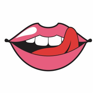 naughty lipstick svg cut