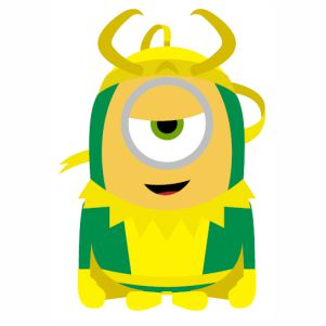 Minion Loki svg cut