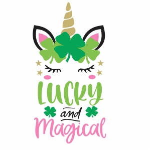lucky and magical unicorn svg file