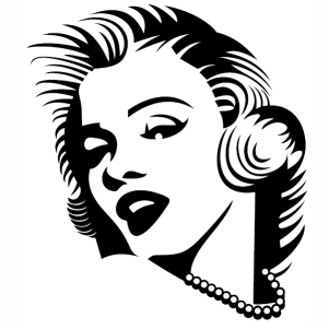 Actress Marilyn Monroe Svg