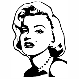 Marilyn Monroe Portrait Svg