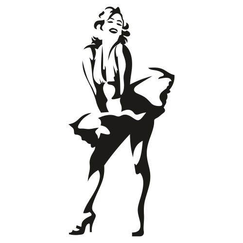 Marilyn Monroe Pose Svg