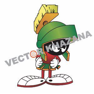 Marvin the Martian Logo Vector