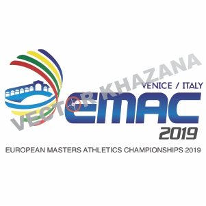 European Masters Athletics Championship Logo Vector