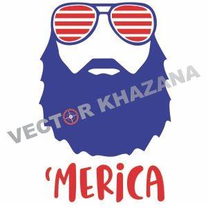 Merica Beard Logo Svg