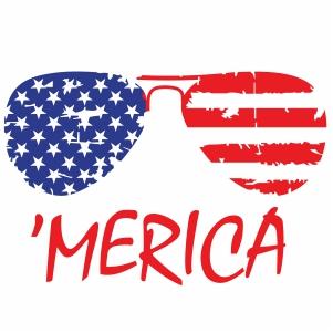 Merica Sunglasses Vector