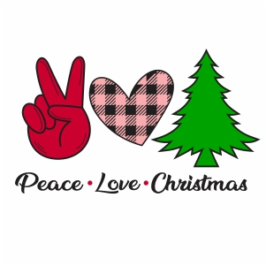 Peace Love Christmas Svg
