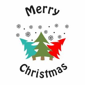 Merry Christmas Tree Svg