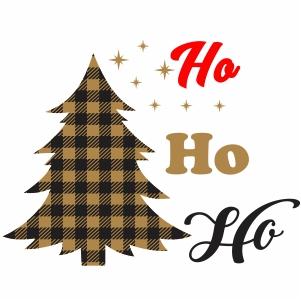 Ho Ho Ho Christmas Tree Svg