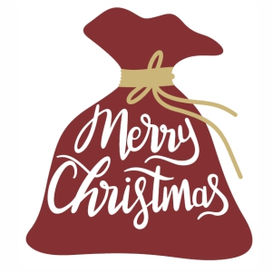 Merry Christmas Bag svg cut file