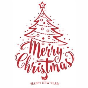 Merry Christmas tree And Happy New Year svg cut