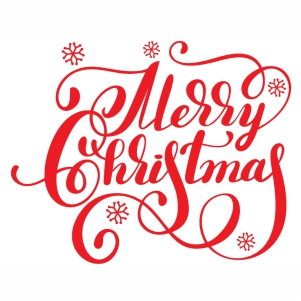 Merry Christmas design svg cut file