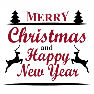 Merry Christmas and Happy New Year svg