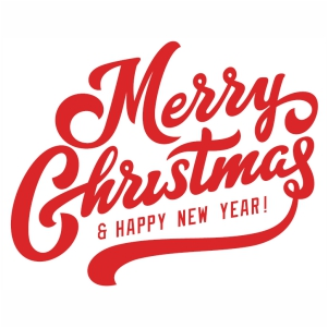 Merry Christmas and Happy New Year svg cut file