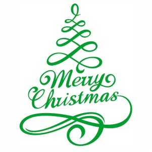 Merry Christmas Tree Style svg cut file