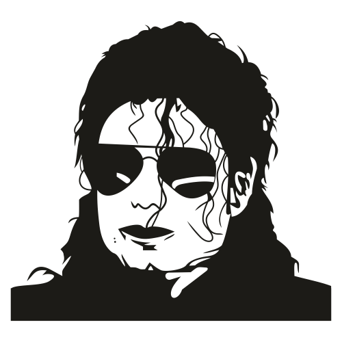 Michael Jackson Face Svg