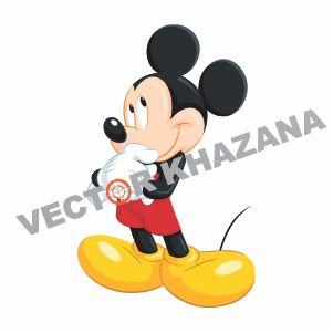 Mickey Mouse Cartoon Logo Vector
