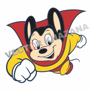 Flying Mighty Mouse Logo Vector
