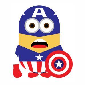 Minion captain america vector