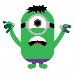 Minions Hulk vector
