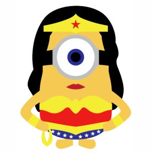 Minion Wonder Woman vector