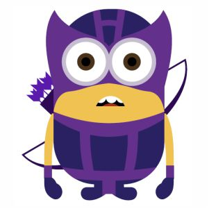 Minion kevin with arrow svg