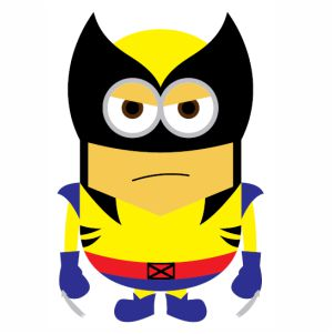 Minions Superhero Wolverine svg