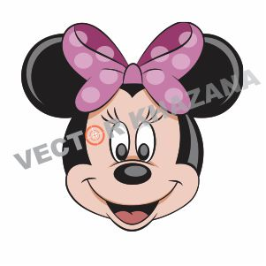 Minnie Head Logo Vector