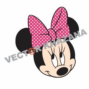 Minnie Mouse Head Logo Vector