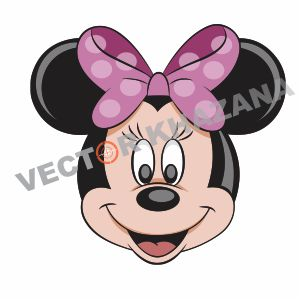 Minnie Mouse Face Logo Vector