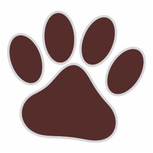 Mississippi State Bulldogs Paw Logo Svg