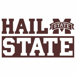 Mississippi State Hail Logo Vector