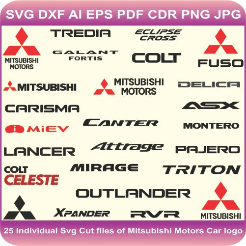 Mitsubishi Pack Logos Svg Cut Files