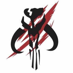 Mandalorian Mythosaur Skull Star Wars svg cut file