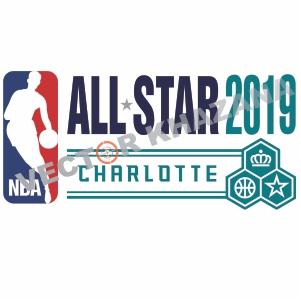 NBA Charlotte 2019 Logo Vector
