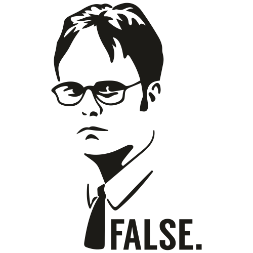 Dwight Schrute False Svg