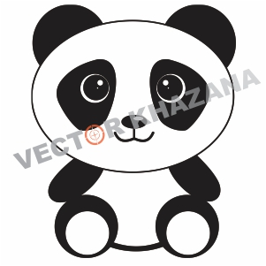 Panda Cute Logo Vector