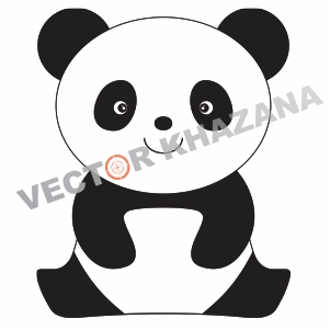 Cute Panda Logo Vector