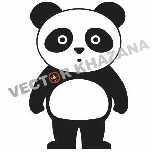 Panda Cartoon Image Logo Vector