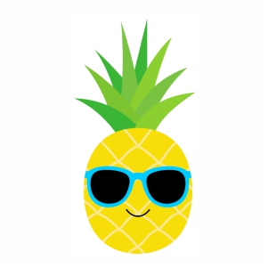 Pineapple With Sunglasses Smile vector