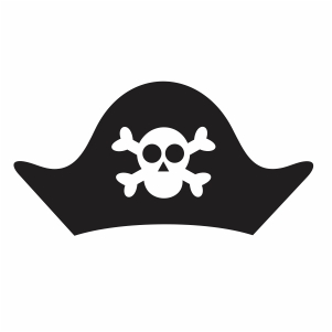 Pirate Hat Skull Svg